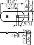 Подложка для кварцевых резонаторов