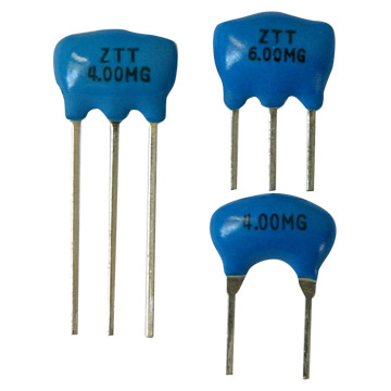 Specifications:1) ZTA series: chip type without built-in capacitors 2) ZTT series: chip type with